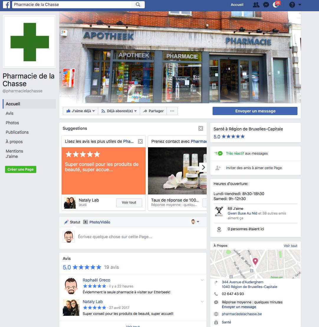 Pharmacie de la Chasse sur Facebook