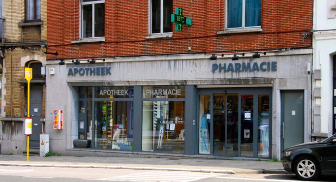 Vitrine Pharmacie de la  Chasse avenue Auderghem 344